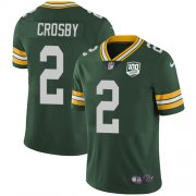 Wholesale Cheap Nike Packers #2 Mason Crosby Green Team Color Men's 100th Season Stitched NFL Vapor Untouchable Limited Jersey