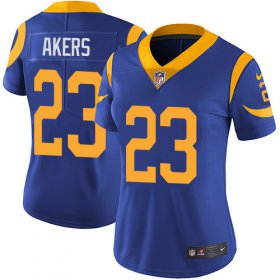 Wholesale Cheap Nike Rams #23 Cam Akers Royal Blue Alternate Women\'s Stitched NFL Vapor Untouchable Limited Jersey