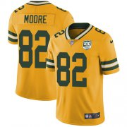 Wholesale Cheap Nike Packers #82 J'Mon Moore Yellow Men's 100th Season Stitched NFL Limited Rush Jersey