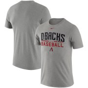 Wholesale Cheap Arizona Diamondbacks Nike Practice T-Shirt Heathered Gray