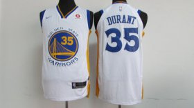 Wholesale Cheap Nike NBA Golden State Warriors #35 Kevin Durant Jersey 2017-18 New Season White Jersey
