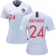 Wholesale Cheap Women's Portugal #24 Joao Cancelo Away Soccer Country Jersey