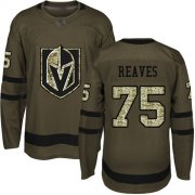 Wholesale Cheap Adidas Golden Knights #75 Ryan Reaves Green Salute to Service Stitched Youth NHL Jersey