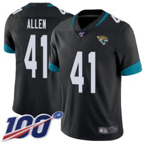 Wholesale Cheap Nike Jaguars #41 Josh Allen Black Team Color Men\'s Stitched NFL 100th Season Vapor Limited Jersey