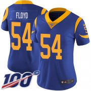 Wholesale Cheap Nike Rams #54 Leonard Floyd Royal Blue Alternate Women's Stitched NFL 100th Season Vapor Untouchable Limited Jersey