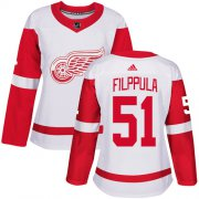 Wholesale Cheap Adidas Red Wings #51 Valtteri Filppula White Road Authentic Women's Stitched NHL Jersey