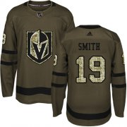 Wholesale Cheap Adidas Golden Knights #19 Reilly Smith Green Salute to Service Stitched Youth NHL Jersey