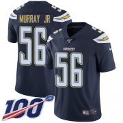 Wholesale Cheap Nike Chargers #56 Kenneth Murray Jr Navy Blue Team Color Men's Stitched NFL 100th Season Vapor Untouchable Limited Jersey