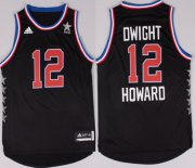 Wholesale Cheap 2015 NBA Western All-Stars #12 Dwight Howard Revolution 30 Swingman Black Jersey