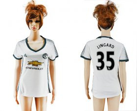 Wholesale Cheap Women\'s Manchester United #35 Lingard Sec Away Soccer Club Jersey