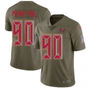 Wholesale Cheap Nike Buccaneers #90 Jason Pierre-Paul Olive Men's Stitched NFL Limited 2017 Salute To Service Jersey