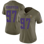 Wholesale Cheap Nike Vikings #97 Everson Griffen Olive Women's Stitched NFL Limited 2017 Salute to Service Jersey
