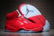 Wholesale Cheap Air Jordan 5 Suede University Red/Black-Silver