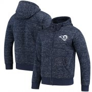 Wholesale Cheap Men's Los Angeles Rams G-III Sports by Carl Banks Heathered Navy Discovery Sherpa Full-Zip Jacket