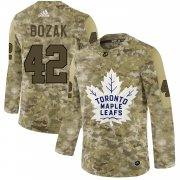 Wholesale Cheap Adidas Maple Leafs #42 Tyler Bozak Camo Authentic Stitched NHL Jersey