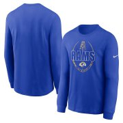 Wholesale Cheap Los Angeles Rams Nike Icon Legend Performance Long Sleeve T-Shirt Royal