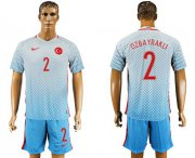 Wholesale Cheap Turkey #2 Ozbayrakli Away Soccer Country Jersey