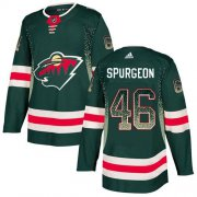Wholesale Cheap Adidas Wild #46 Jared Spurgeon Green Home Authentic Drift Fashion Stitched NHL Jersey