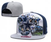 Wholesale Cheap Cowboys Team Logo Gray Adjustable Leather Hat TX