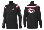 Wholesale NFL Kansas City Chiefs Team Logo Jacket Black_2