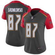 Wholesale Cheap Nike Buccaneers #87 Rob Gronkowski Gray Women's Stitched NFL Limited Inverted Legend Jersey