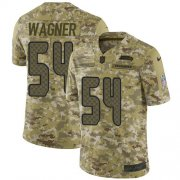Wholesale Cheap Nike Seahawks #54 Bobby Wagner Camo Men's Stitched NFL Limited 2018 Salute To Service Jersey