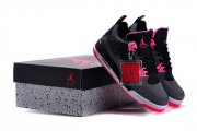 Wholesale Cheap Air Jordan 4 GS HYPER PINK Shoes Black/pink-white