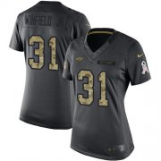 Wholesale Cheap Nike Buccaneers #31 Antoine Winfield Jr. Black Women's Stitched NFL Limited 2016 Salute to Service Jersey