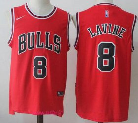 Wholesale Cheap Men\'s Chicago Bulls #8 Zach LaVine Red 2017-2018 Nike Swingman Stitched NBA Jersey