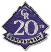 Wholesale Cheap Stitched 2013 Colorado Rockies 20th Anniversary Logo Sleeve Patch