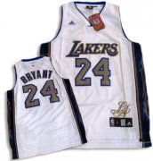 Wholesale Cheap Los Angeles Lakers #24 Kobe Bryant Signature Editon White Swingman Jersey