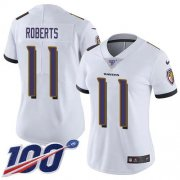 Wholesale Cheap Nike Ravens #11 Seth Roberts White Women's Stitched NFL 100th Season Vapor Untouchable Limited Jersey