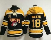 Wholesale Cheap Pirates #18 Neil Walker Black Sawyer Hooded Sweatshirt MLB Hoodie