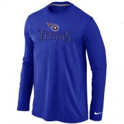 Wholesale Cheap Nike Tennessee Titans Authentic Logo Long Sleeve T-Shirt Blue