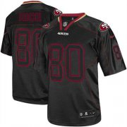 Wholesale Cheap Nike 49ers #80 Jerry Rice Lights Out Black Youth Stitched NFL Elite Jersey