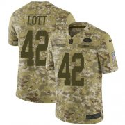 Wholesale Cheap Nike 49ers #42 Ronnie Lott Camo Youth Stitched NFL Limited 2018 Salute to Service Jersey