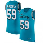 Wholesale Cheap Nike Panthers #59 Luke Kuechly Blue Alternate Men's Stitched NFL Limited Rush Tank Top Jersey