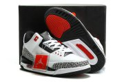 Wholesale Cheap Air Jordan 3 Infrared 23 Shoes White/Black-Cement Grey-Infrared 23