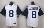 Wholesale Cheap Nike Cowboys #8 Troy Aikman White Men's Stitched NFL Elite Rush Jersey
