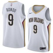 Wholesale Cheap Nike New Orleans Pelicans #9 Rajon Rondo White NBA Swingman Association Edition Jersey