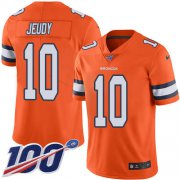 Wholesale Cheap Nike Broncos #10 Jerry Jeudy Orange Youth Stitched NFL Limited Rush 100th Season Jersey