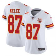 Wholesale Cheap Nike Chiefs #87 Travis Kelce White Women's Stitched NFL Vapor Untouchable Limited Jersey