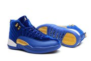 Wholesale Cheap Womens Air Jordan 12 Retro Shoes Blue/Gold-White