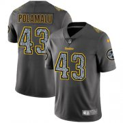 Wholesale Cheap Nike Steelers #43 Troy Polamalu Gray Static Youth Stitched NFL Vapor Untouchable Limited Jersey