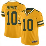 Wholesale Cheap Nike Packers #10 Darrius Shepherd Gold Men's Stitched NFL Limited Inverted Legend Jersey