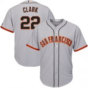Wholesale Cheap Giants #22 Will Clark Grey Road Cool Base Stitched Youth MLB Jersey