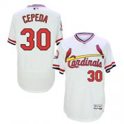Wholesale Cheap Cardinals #30 Orlando Cepeda White Flexbase Authentic Collection Cooperstown Stitched MLB Jersey