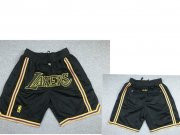Wholesale Cheap Men's Los Angeles Lakers Black 2020 Nike City Edition Just Don Shorts Swingman Shorts