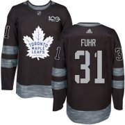 Wholesale Cheap Adidas Maple Leafs #31 Grant Fuhr Black 1917-2017 100th Anniversary Stitched NHL Jersey
