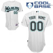 Wholesale Cheap Marlins Personalized Authentic White MLB Jersey (S-3XL)